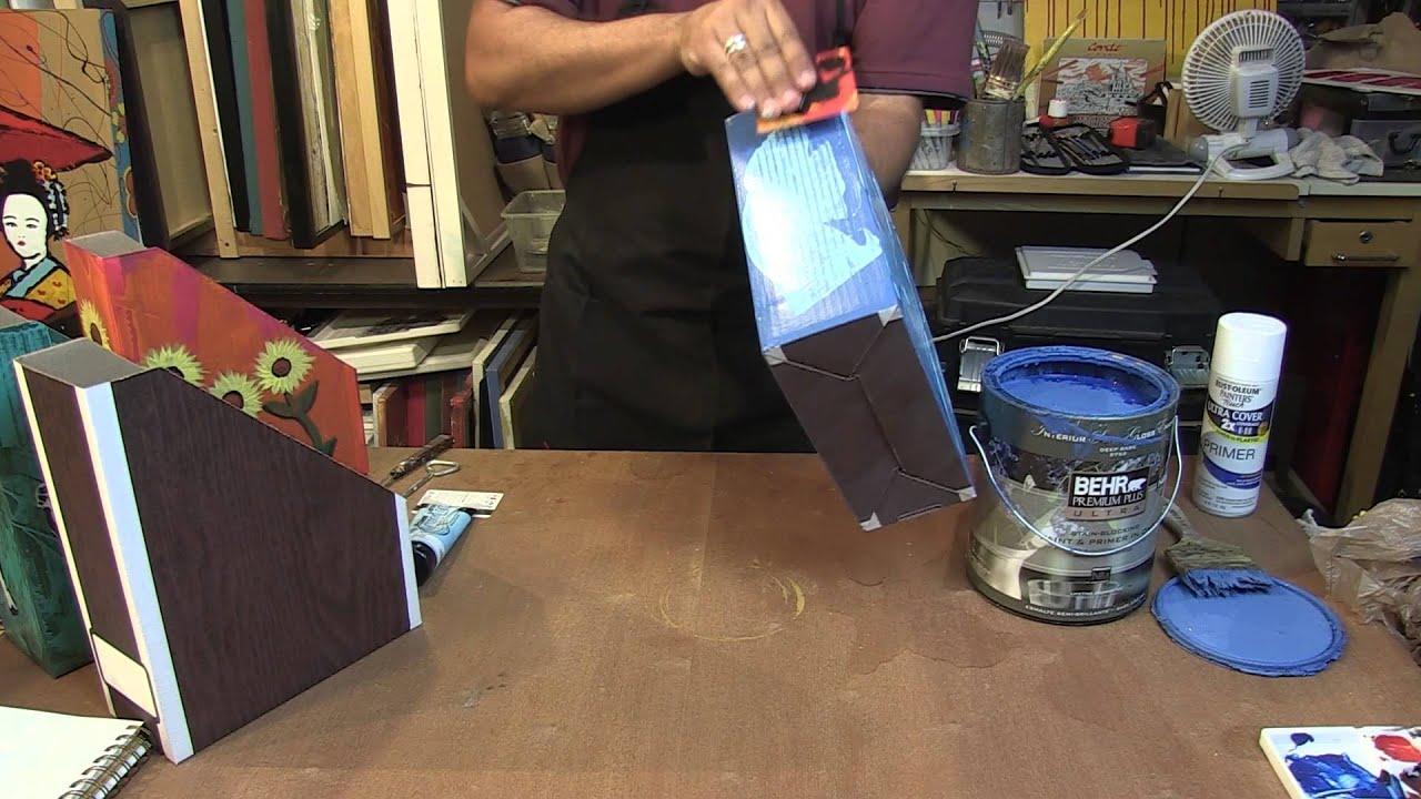 Painting Technique Cardboard Magazine Holder