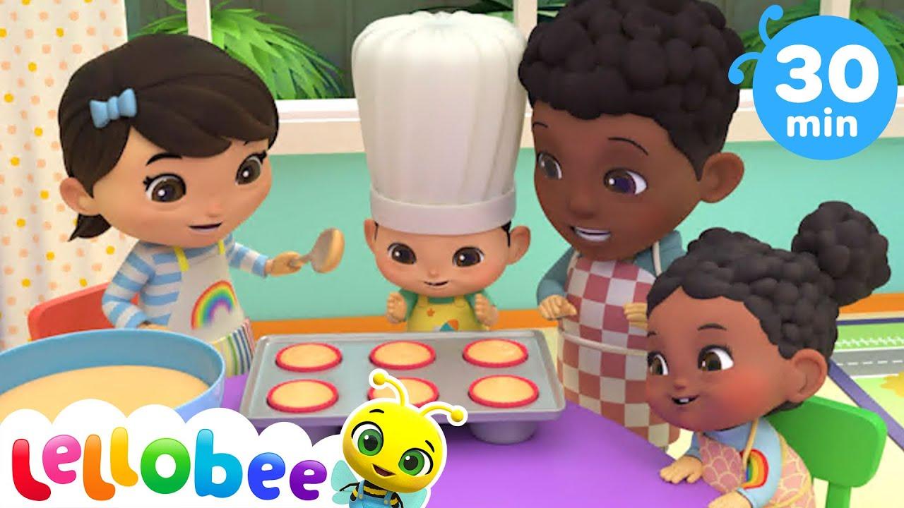 Pat A Cake Song - Baking is Fun + More Nursery Rhymes For Kids & Kid Songs - Little Baby Bum