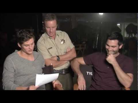 Daniel Sharman Reads  Mail to Tyler Hoechlin on Teen Wolf Set. HD