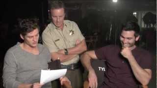 Daniel Sharman Reads Fan Mail to Tyler Hoechlin on Teen Wolf Set. (HD)