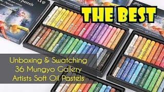 Open Mungyo Gallery Soft Oil Pastels 36 set Unboxing Review screenshot 4