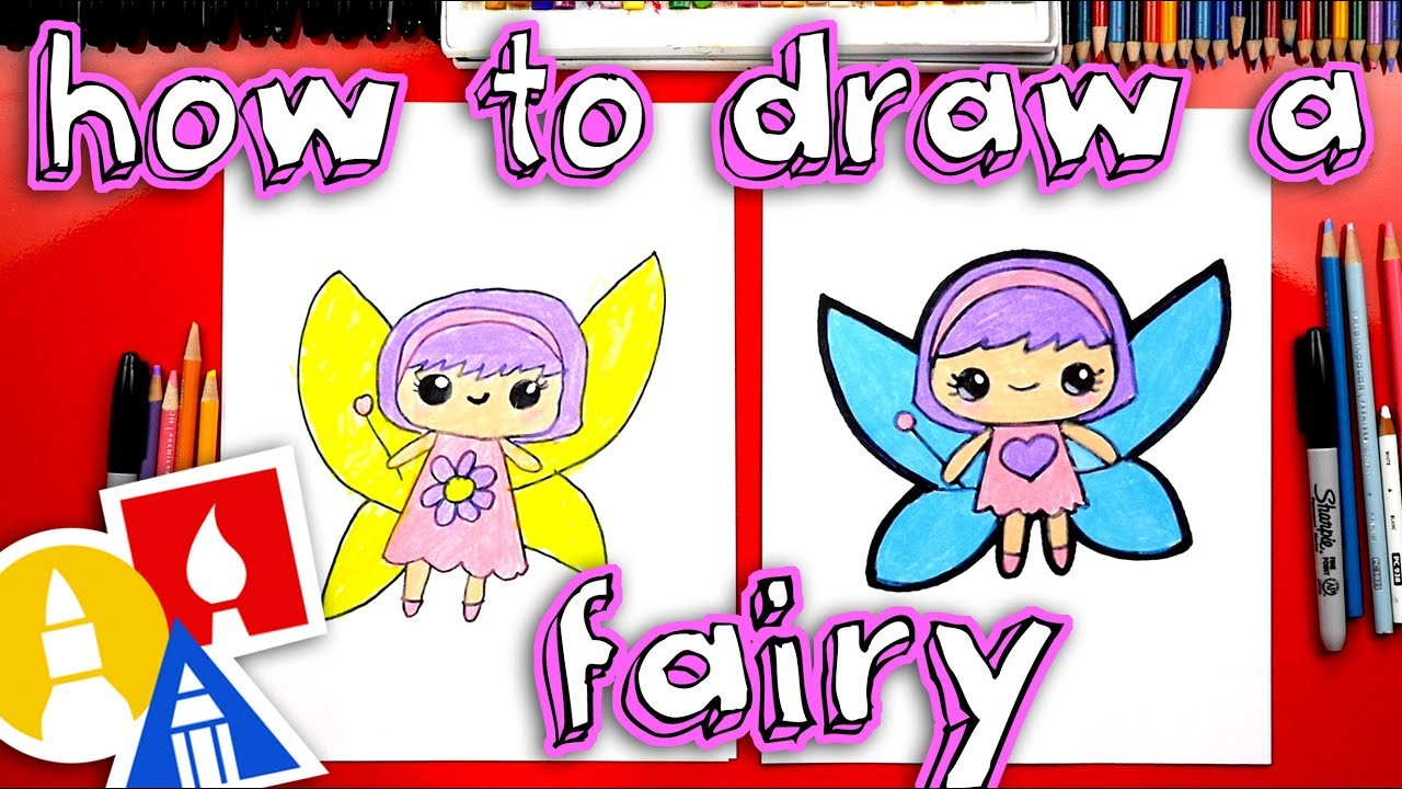 How To Draw A Cute Fairy Safe Videos For Kids