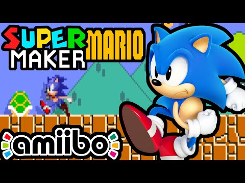 Super Mario Maker PART 2 Gameplay Walkthrough (Sonic Amiibo, New Delivery, 100 Challenge) Wii U