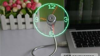 Обзор USB Вентилятор с LED часами с GearBest