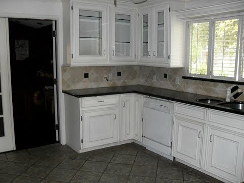 White Cabinets and Ceramic Floors