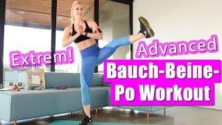 Bauch Beine Po Workout   Effektives GANZKÖRPER TRAINING für Fortgeschrittene