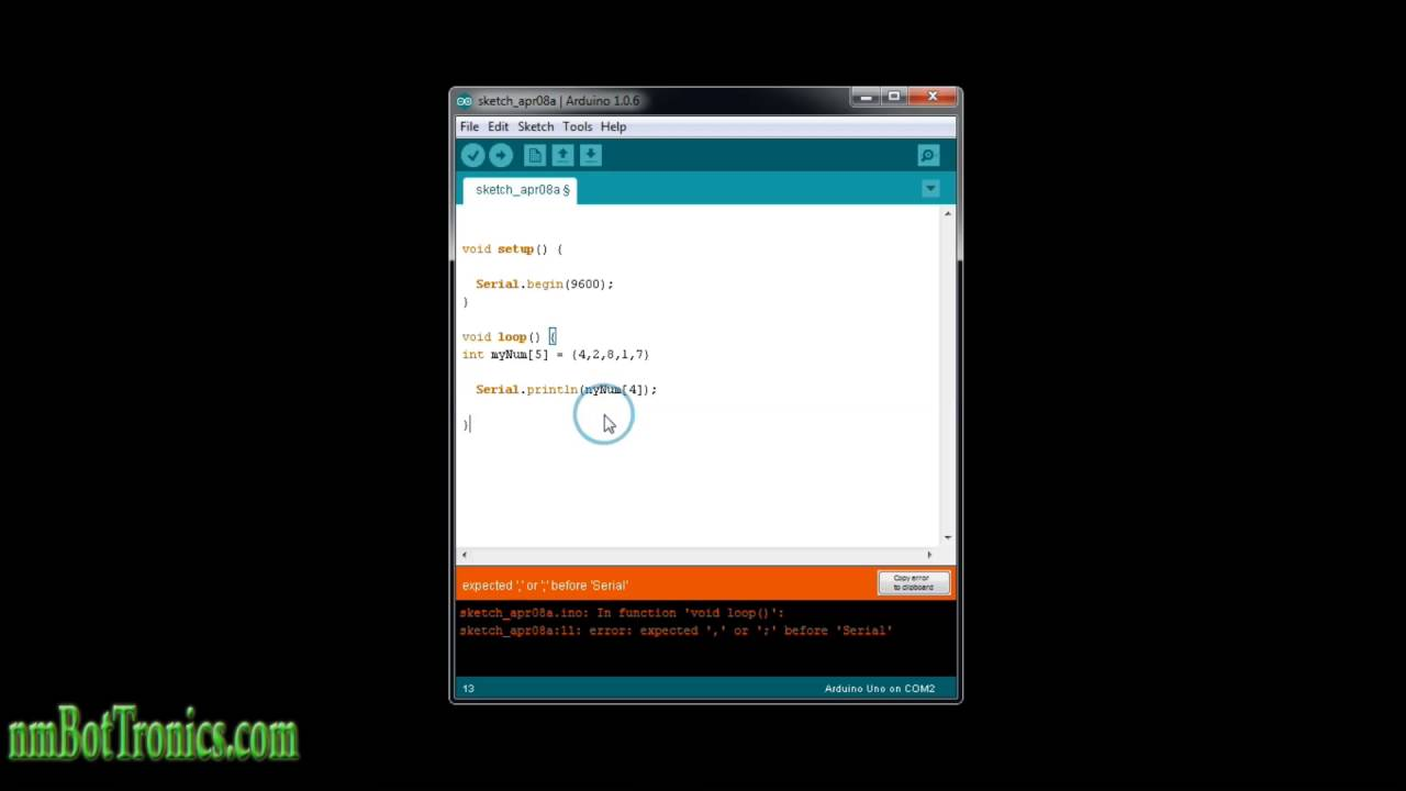 Arduino Tutorial: Array, how to retrieve elements, loop and assign values  to an Array