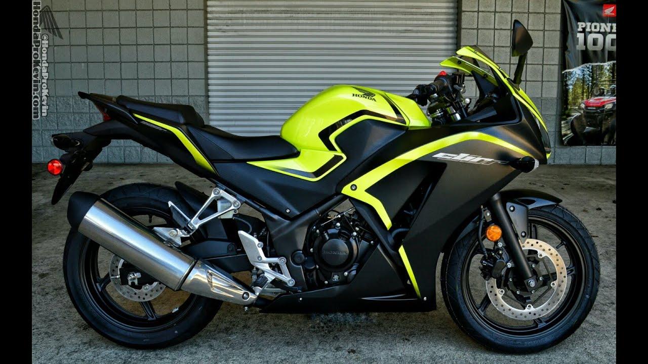 Honda Grom Specs >> 2016 Honda CBR300R Sport Bike Walk-Around Video | Yellow / Black CBR - YouTube