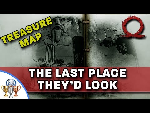 God of War Treasure Map - The Last Place They'd Look - Map and Dig Spot Locations