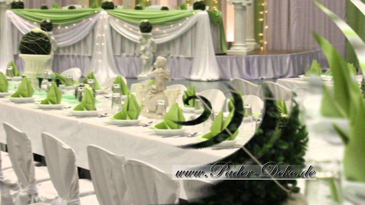 Hochzeitsdekoration Swadba Deko fr Hochzeit wwwpaderdekodempg  YouTube