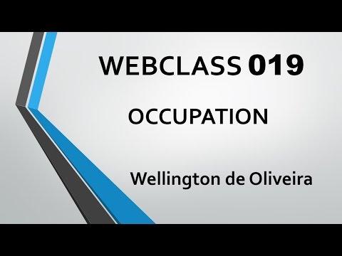FREE WEBCLASS 019 - OCCUPATION