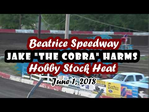 06/01/2018 Beatrice Speedway Hobby Stock Heat #3 -- Featuring Jake Harms