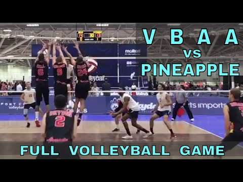 VBAA vs Pineapple FULL GAME - 2017 USA Volleyball Adult Nationals (Open Division)