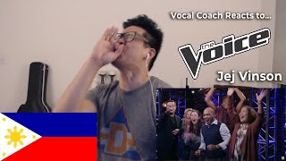 Vocal Coach Reaction To Jej Vinson On The Voice!