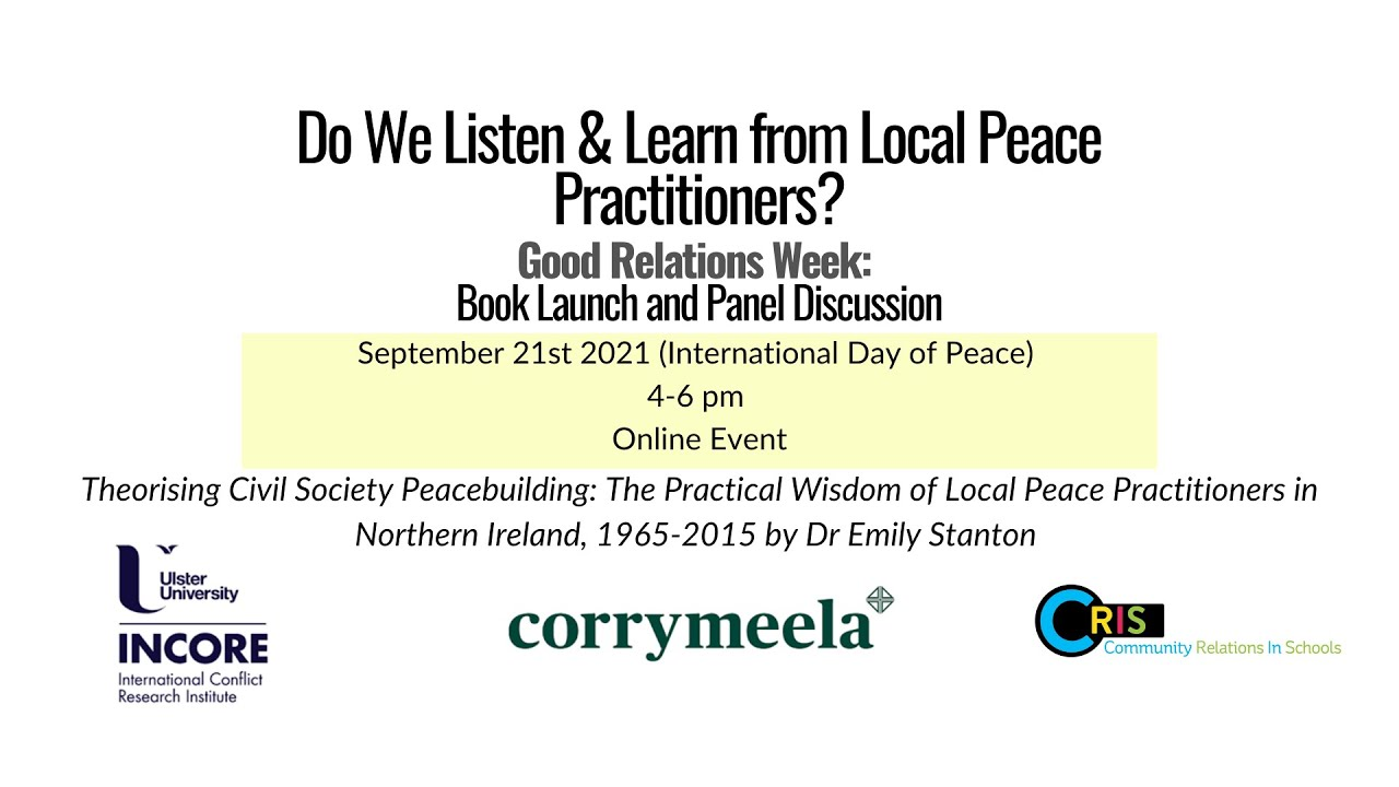 """""""Do We Listen & Learn from Local Peace Practitioners?"""" - #GRW21"""