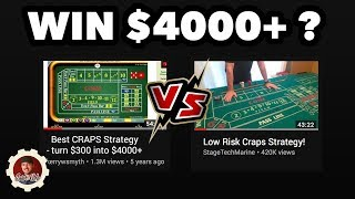 Best Low Risk Craps Strategy