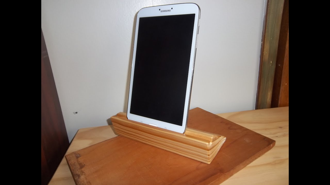Making a Simple Wooden Tablet/Ipad Stand - YouTube