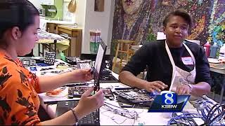 Anti--bullying workshop in Seaside, a local artist is working with ...