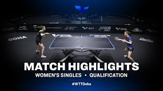 Anastassiya Lavrova vs Sarah De Nutte | WTT Star Contender Doha 2021 | WS | QUAL Highlights