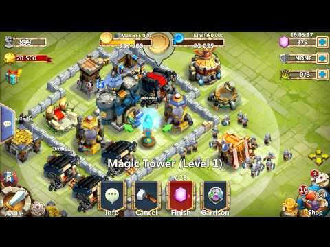 Castle Clash Upgrading Level 1 Magic Tower
