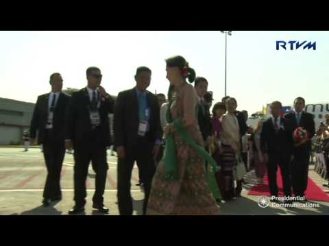 Arrival of Myanmar State Counsellor Aung San Suu Kyi 4/28/2017