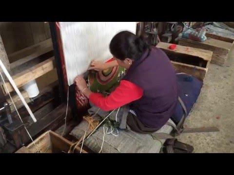 Carpet weaving at the Tibetan Refugee Self Help Center, Darjeeling, India