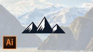 Create a Mountain Graphic Illustration Illustrator Tutorial