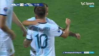 GOL DE ARGENTINA 1-0 Uruguay (Alexis Mac Allister) Preolímpico Sub-23