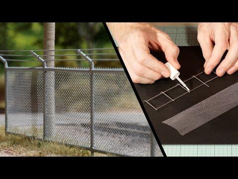 Chain Link Fence – Model Railroad Scenery