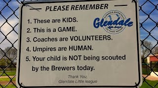 Sign at local baseball field sparks national conversation