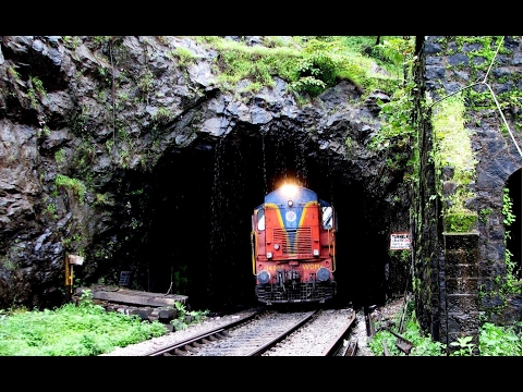 Mumbai to Pune Train Route Amazing Tunnels & Hills