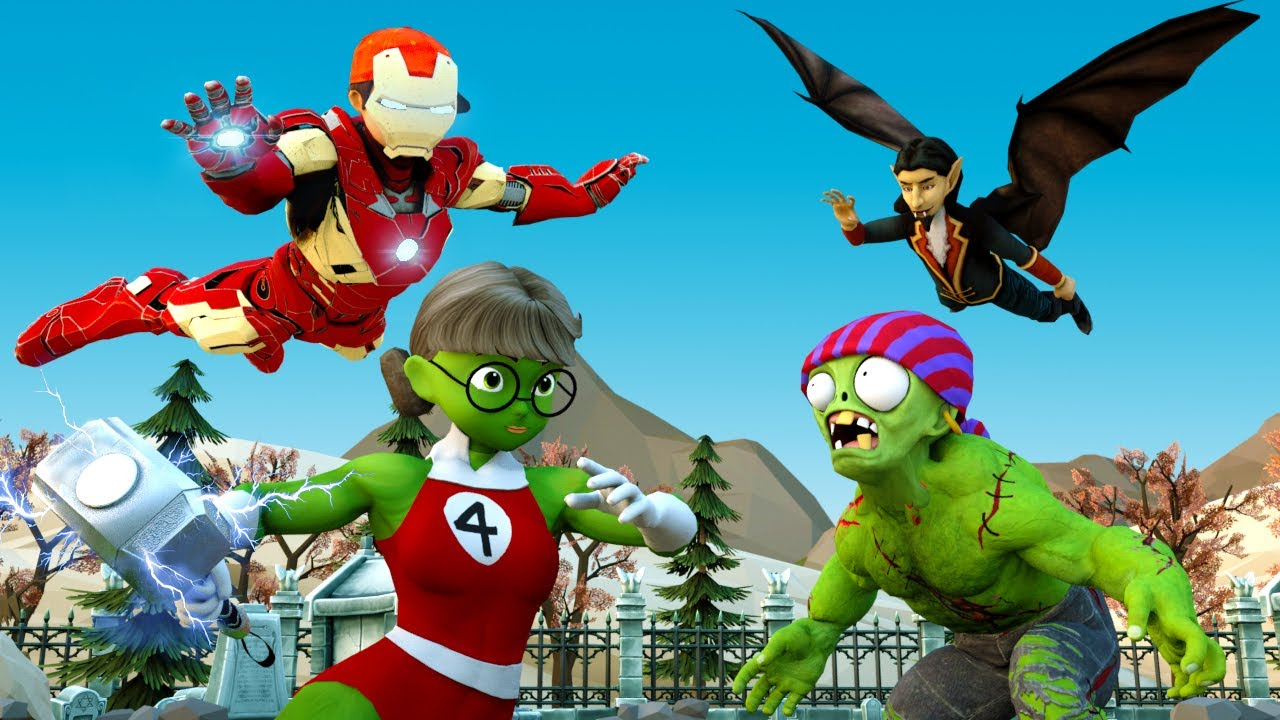 IronMan Nick vs Hulk Zombie vs Vampire Rescue Tani - Scary Teacher 3D Hero Animation