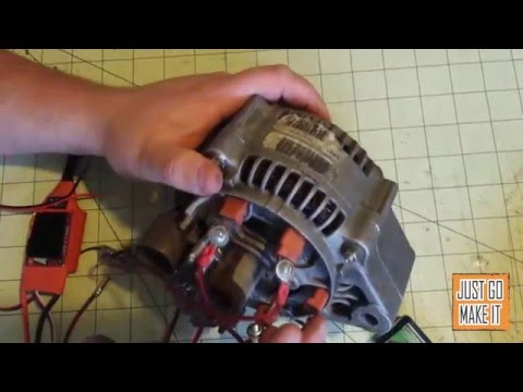 Alternator to motor conversion howto