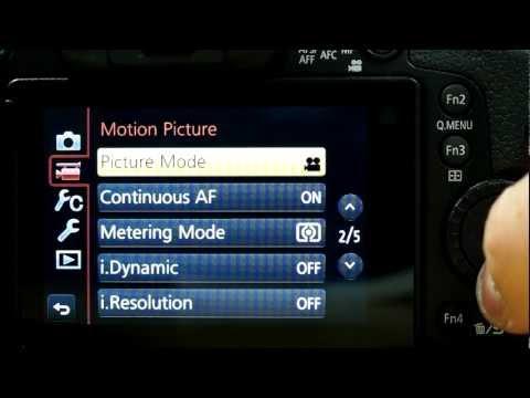 Panasonic Lumix GH3 Menu Walkthrough Video