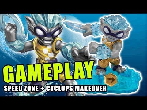 Nitro Freeze Blade Gameplay: Speed Zone & Cyclops Makeover (Swap Force Skylanders)