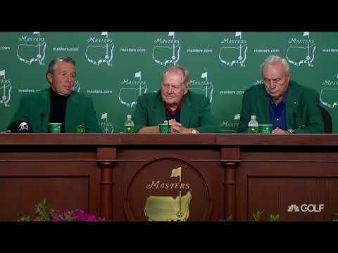 2015 Masters Rickie, Bubba, Keegan watch Gary Player, Jack Nicklaus Arnold Palmer