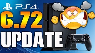 New PS4 6.72 System Software Update Warning Firmware Problems