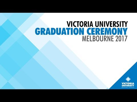 Victoria University Graduation Ceremony 4  August 2017