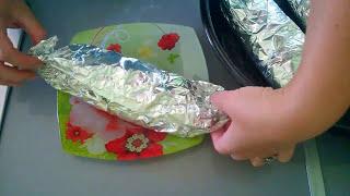 Рецепты Скумбрия запеченная в фольге с овощами и лимоном/Рецепт рыбы в духовке.