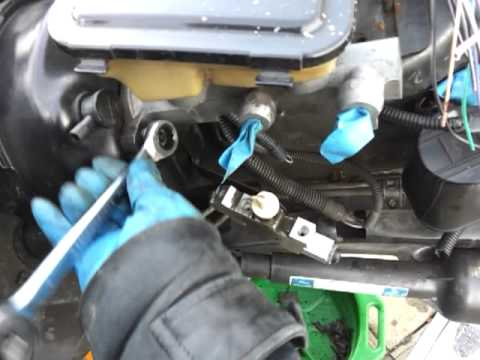 How to replace install a brake master cylinder YouTube