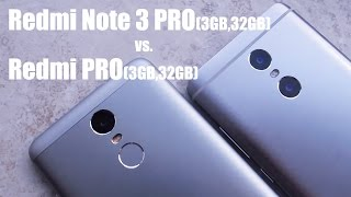 Xiaomi Redmi PRO vs. Xiaomi Redmi Note 3 PRO - Detailed view & Performance test