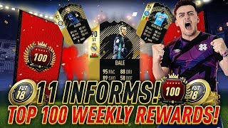 TOP 100 FUT CHAMPIONS WEEKLY REWARDS!! 11 INFORMS IN ULTIMATE TOTW PACK OPENING!