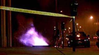 Underground transformer fire