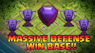 Clash Of Clans -TH11 BASE TROPHY BASE LEGEND LEAGUE MASSIVE DEFENSE WIN BASE (BACK TO BACK WIN 2017)
