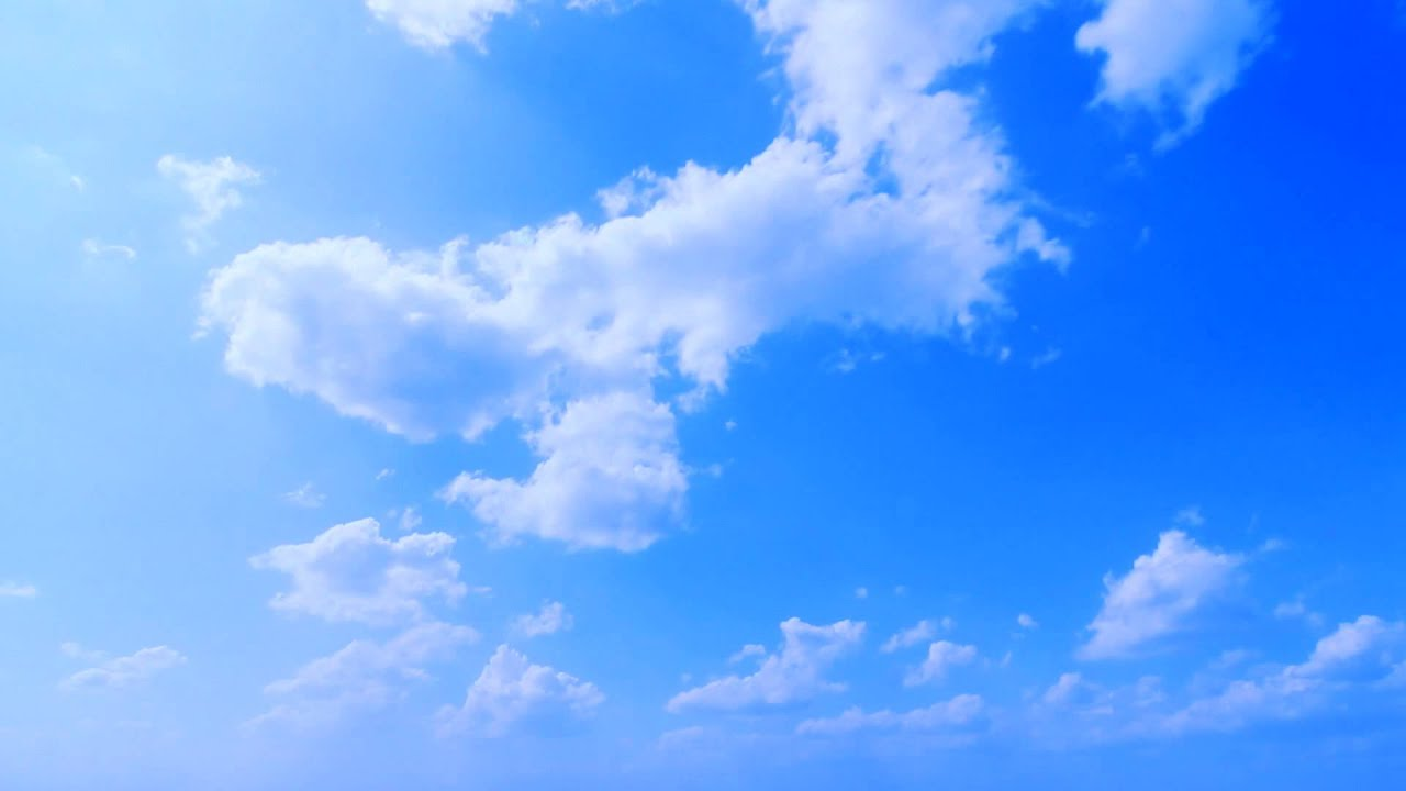 3d Fall Ceiling Wallpaper Deep Blue Sky Clouds Timelapse Free Footage Full Hd