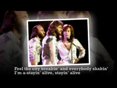 The Bee Gees - Stayin' Alive - lyrics
