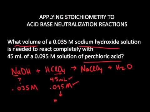 Solution Stoichiometry Neutralization Reaction