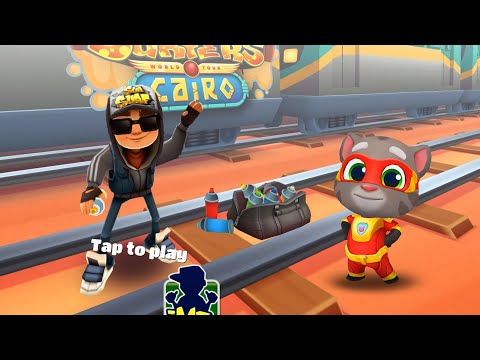WHO'S BEST? Subway Surfers Cairo VS Talking Tom Hero Dash - LITTLE MOVIES 4K 60 Fps Android Gameplay
