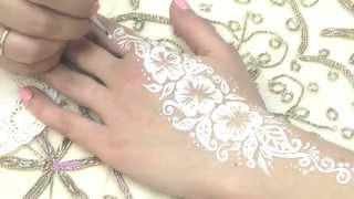 Свадебная временная белая татуировка