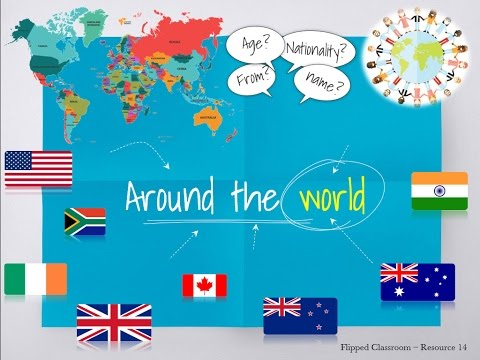 Towns countries nationalities flags world